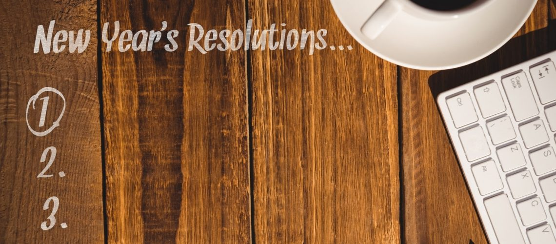 Coffee cup and list of resolutions